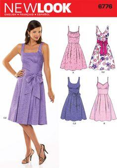 Womens Dress Pattern 6776 New Look Patterns