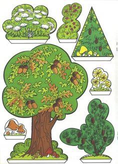 Handicraft sheet: Fix and Foxi Nature Park - Kaukapedia Fall Preschool Activities, Preschool Art, Paper Doll House, Paper Houses, Cuento Pop Up, Diy Paper, Paper Crafts, Pop Up Cards, Paper Models