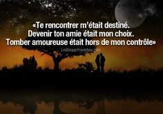 Image discovered by Les Beaux Proverbes. Find images and videos about quotes, amour and citation on We Heart It - the app to get lost in what you love. Citation Distance, Best Quotes, Love Quotes, French Quotes, Bad Mood, Some Words, Me On A Map, Positive Affirmations, Beautiful Words