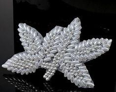 Rhinestone Applique Crystal Applique Beaded by CodyLovesCleo