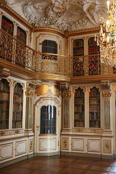 visitheworld:  Library of Christiansborg Palace in Copenhagen, Denmark (by taltraveltips).