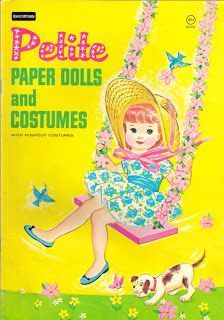 Petite Paper Dolls and Costumes, #4474 Saalfield 1960s (1 of 10)
