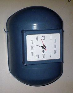 Old welding helmet clock.   My dad would get a kick out of this.  He spent too much TIME behind one of these