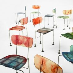 Gaetano Pesce, #543 Broadway Chairs from TBWA/Chiat/Day by Bernini, 1994.