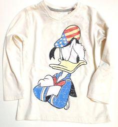 T-shirt lange mouw met vintage Donald Duck print van Relaunch Fashion