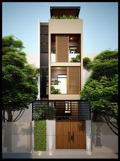 Mẫu thiết kế nhà ống đẹp 3 tầng mặt tiền 4m hiện nay khá phổ biến trong các khu phố hay các tuyến đường nội thị...