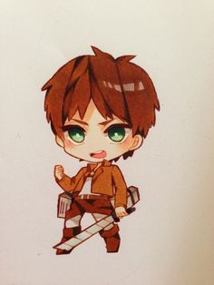 Eren Jaeger - Attack on Titan - Anime Chibi