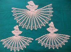 southern belle pattern | ... HAND CROCHET CRINOLINE LADY SOUTHERN BELLE 3 PC DUCHESS CHEVAL SET