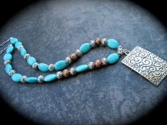 NEW Brighton style turquoise necklace with by HeidiDiCesareDesigns, $22.00