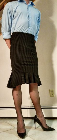 Looking good in a pencil skirt