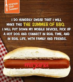 I pledge to make this the summer of BBQ. Take the pledge Hot Dogs, Hot Dog Buns, Barbecue, Canadian Contests, Great Recipes, Health Fitness, Cooking Recipes, Ethnic Recipes, Summer