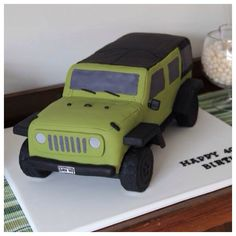 Dan's Jeep Cake -  JK, 2104 Ambulance Cake, Jeep Cake, Cake Structure, Car Cakes, Theme Cakes, Let Them Eat Cake, Cake Pops, Cake Ideas, Yogurt