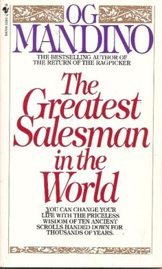 This book changed my life at age 24.  Having come from a dysfunctional and negative family, I was glued to this book and memorized the scrolls.  Og Mandino is the man!