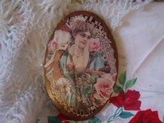 Pretty Victorian Card Decoupaged on Board / by Daysgonebytreasures, $10.00
