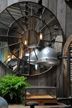 Interior design | decoration | home decor | industrial chic - antique and vintage mirror