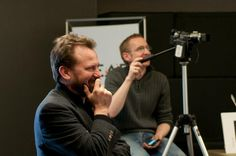 """Glen and Steve share a laugh during our """"Creating an Insanely Great Customer Journey"""" U of Q session."""