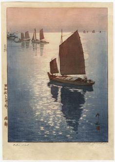 Calm wind by Hiroshi Yoshida, 1937