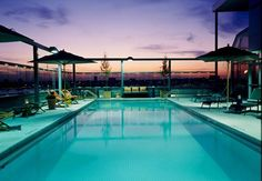 I'll swim in this spectaculair rooftop swimmingpool at Gansevoort Meatpacking