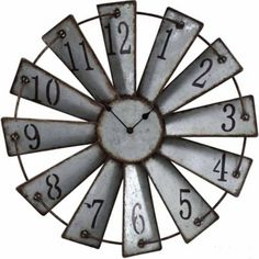 Clock   Brand : Red Shed   Batteries Required : 1 AA Battery   Warranty : 1 Year   Product Width : 2-1/2 in.   Product Height : 18-1/2 in.   Product Length : 18-1/2 in.   Case Material : Metal   Mount Type : Wall   Power Type : Battery   Color : Gray