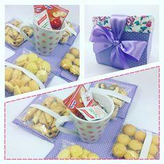 Caixa de Chás de Biscoitos - Arte de Presentear