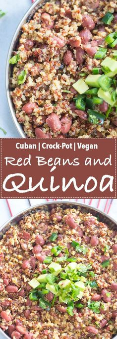 Vegan Crock-Pot Red Beans and Quinoa is the perfect weeknight family meal. | #Vegan #crockpot #slowcooker #quinoa