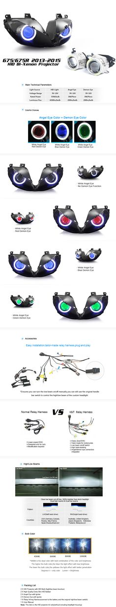 Dual HID Projector HP7-DTN13 for Triumph Daytona 675 675R 2013-2015 http://www.ktmotorcycle.com/hid-projector-hp7-dtn13-for-triumph-daytona-675-675r-2013-2015.html