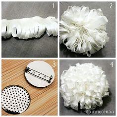 Chrysants Silk Brooch Tutorial