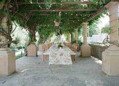 Garden-Style Dinner  Photography: Elizabeth Messina Read More: http://www.insideweddings.com/weddings/an-intimate-garden-themed-rehearsal-dinner-in-ojai-california/553/