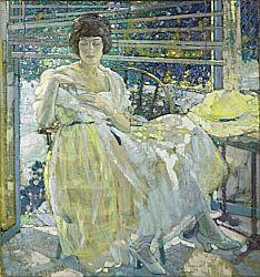 Richard Edward Miller, American, 1875-1943  The Sun Porch, 1922