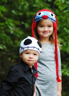 Jack & Sally beanies <3 perfect for Halloween