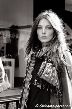The Canadian Ukrainian model, Daria Werbowy, leaving Balmain Show