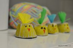 Easter Craft: Egg Carton Easter Egg Chicky