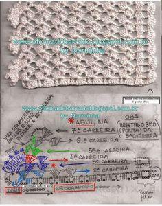 Atendendo solicitações, posto meus rascunhos com instruções para execução deste elegante barrado... Para melhor entendimento, coloquei ... [] #<br/> # #Crochet #Edgings,<br/> # #Filet #Crochet,<br/> # #Crochet #Stitches,<br/> # #Pace,<br/> # #Marina,<br/> # #Search,<br/> # #Html,<br/> # #Office,<br/> # #Crafts<br/>