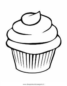 Risultati immagini per immagini di muffin da colorare
