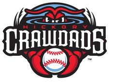 Hickory Crawdads Primary Logo on Chris Creamer's Sports Logos Page - SportsLogos. A virtual museum of sports logos, uniforms and historical items. Sports Team Logos, Minor League Baseball, Sports Baseball, Baseball Teams, Budget Template, Embroidery Files, As You Like, Logo Design, Caps Hats