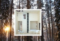 Mirrored Tree Hotel Room [Architecture] - Inside