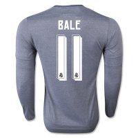 Real Madrid C.F 2015-16 Season BALE #11 LS Away Soccer Jersey [B644]