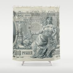 Russian Banknote Shower Curtain