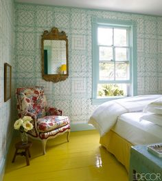 China Seas Lyford Trellis wallpaper interior design by Miles Redd