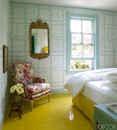 China Seas Lyford Trellis wallpaper interior design by Miles Redd