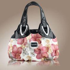 flower pattern Top-Handle Bags for Girls Hobos small Women Leather tote Bag Women Bag Female handbags black purses and handbags