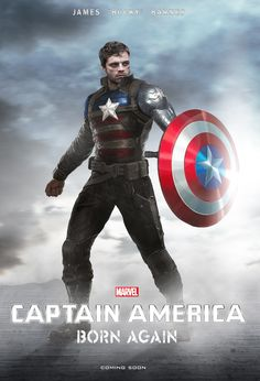I tried creating a poster for Captain America As you may know, Chris Evans is booked for 6 Marvel Movies and Sebastian Stan for That leaves many thinking that Rogers will die in Avengers just. Marvel Dc, Bucky Barnes Marvel, Marvel Comic Universe, Marvel Actors, Marvel Characters, Marvel Heroes, Marvel Movies, Marvel Cinematic Universe, Sebastian Stan