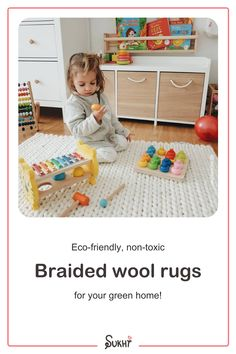 Braided wool rugs are one-of-a-kind! Available in neutral earthy tones & a stunning pattern. This handmade Kalim rug is white, luxurious, warm, non-toxic, soft & naturally dyed, made from 100% NZ wool. Each rug is made to order by our skilled artisans in India. The perfect nursery or playroom rug that your kids will love! Choose the size & shape that suits your space and transform your home. Free worldwide shipping on all orders. Kid Friendly Rugs, Braided Wool Rug, Playroom Rug, Slow Design, Affordable Rugs, Wool Rugs, Rug Making, Earthy, Neutral