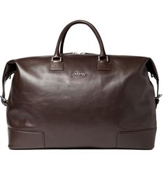 LEATHER Picture Bags | Brioni Men Large Leather Travel Bag | Men's bags