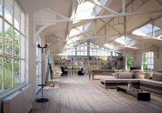 Voll im Wohntrend liegen alte restaurierte Fabrik-Lofts - Wohnidee by WOONIO