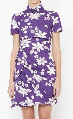 Miu Miu Purple And White Dress | VAUNTE