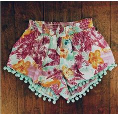 Billabong pom-pom shorts.