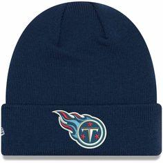 e118d348d5a Toddler Tennessee Titans New Era Navy Basic Cuffed Knit Hat
