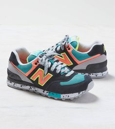 Black New Balance 574 Sneaker