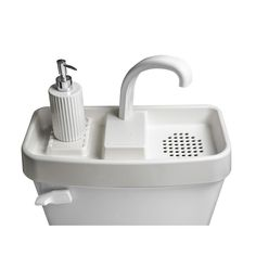 This is Sink Twice. It is the smallest of three available toilet tank sinks by Sink Twice. This allows you to clean your hands with clean water and flush with soapy water and it saves a lot of space in a bathroom (aside from saving money and water). Leaking Toilet, Toilet Sink, Sink Toilet Combo, Toilet Room, Small Toilet, New Toilet, Home Depot, Toilet Tank Cover, Dual Flush Toilet